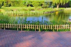 Lago nel parco Immagini Stock