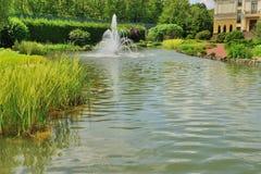 Lago nel parco Fotografia Stock Libera da Diritti