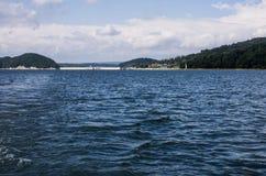 Lago nel parco nazionale di Bieszczady in Polonia Immagini Stock