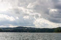 Lago nel parco nazionale di Bieszczady in Polonia Fotografia Stock