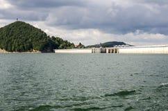 Lago nel parco nazionale di Bieszczady in Polonia Fotografie Stock