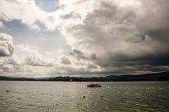 Lago nel parco nazionale di Bieszczady in Polonia Fotografia Stock Libera da Diritti