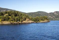 Lago nel sud della Norvegia Fotografie Stock Libere da Diritti
