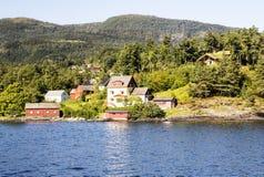 Lago nel sud della Norvegia Fotografia Stock Libera da Diritti