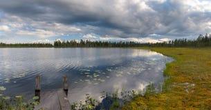 Lago nell'area della regione paludosa Fotografia Stock