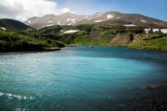 Lago nell'area di Mutnovka fotografia stock