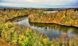 Lago nell'immagine infrarossa di Poland Immagine Stock