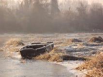 Lago nell'inverno Fotografia Stock