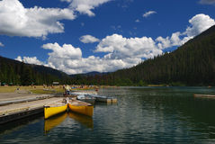 Lago nell'uomo della sosta Fotografie Stock