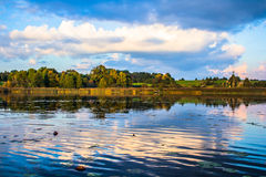 Lago nella caduta Fotografia Stock Libera da Diritti