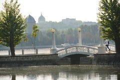 Lago nella città di Ternopil Fotografia Stock