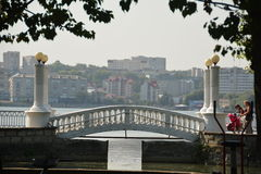 Lago nella città di Ternopil Fotografie Stock Libere da Diritti