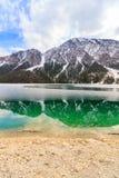Lago nella montagna delle alpi, Tirolo, Austria Plansee Fotografia Stock Libera da Diritti