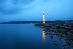 Lago nella notte Fotografia Stock