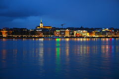 Lago nella notte immagine stock libera da diritti