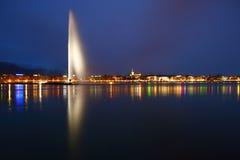 Lago nella notte Fotografie Stock