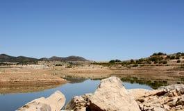 Lago nella provincia di Malaga, Andalusia, Spagna Fotografie Stock