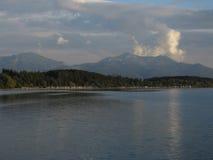 Lago nella sera Immagini Stock