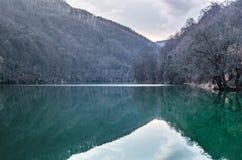 Lago nella valle Immagine Stock