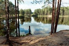 Lago nella zona europea della Russia fotografia stock