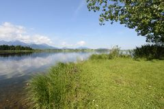 Lago nelle alpi, Fotografie Stock Libere da Diritti