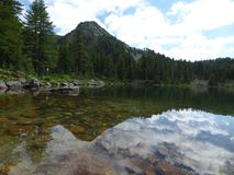 Lago nelle alpi di Dinaric montenegro Fotografie Stock Libere da Diritti
