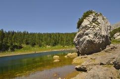 Lago nelle alpi di Julian Immagine Stock
