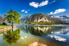 Lago nelle alpi, Hallstatt Fotografia Stock