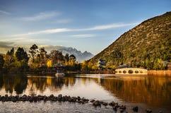 Lago nero del drago a Lijiang Immagini Stock