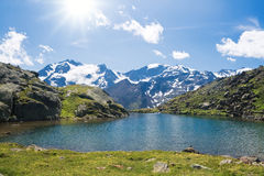 Lago Nero, Italian Alps Stock Images