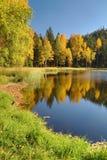 Lago nero nelle rocce di Jirasek in repubblica Ceca fotografia stock