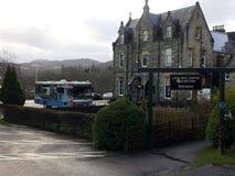 Lago Ness Exhibition Centre en Drumnadrochit, cerca de Inverness en Escocia foto de archivo libre de regalías