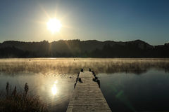Lago nevoento 7 morning Fotografia de Stock