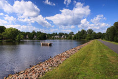 Lago Newport in Reston la Virginia Fotografia Stock Libera da Diritti