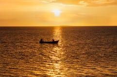 Lago Nicarágua sunset Fotos de Stock Royalty Free