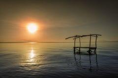 Lago Nicaragua en la puesta del sol fotos de archivo libres de regalías