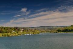 Lago Nidda cerca de Schotten Imagen de archivo libre de regalías