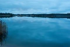 Lago night Imagen de archivo libre de regalías