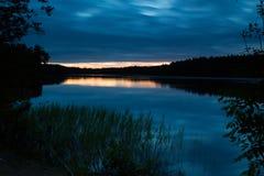 Lago a nigth immagini stock