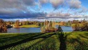 Lago no Blenheim-palácio Foto de Stock Royalty Free