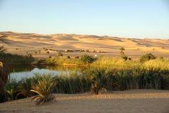 Lago no deserto de Líbia Fotos de Stock