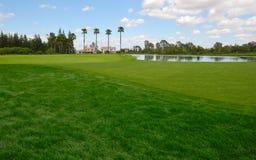 Lago no fairway verde Fotos de Stock Royalty Free