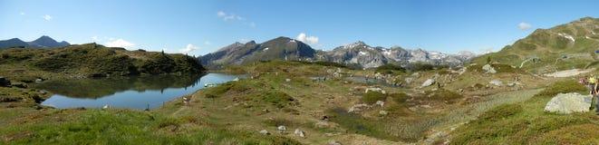 Lago no Obertauern - panorama Imagens de Stock