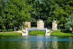 Lago no parque e as ondinhas na água Foto de Stock