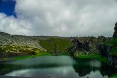 Lago no parque nacional de Snaefellsjokull Fotos de Stock Royalty Free