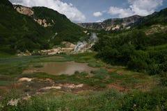 Lago no vale dos geysers Fotos de Stock