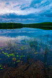 Lago norte depot, parque provincial do Algonquin Foto de Stock Royalty Free