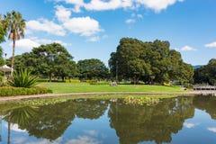 Lago Northam y parque cerca de la universidad de Sydney imagenes de archivo