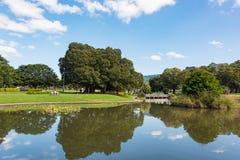 Lago Northam y parque cerca de la universidad de Sydney fotografía de archivo