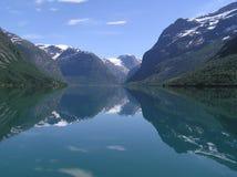 Lago norvegese Immagini Stock